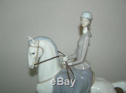 Rare Large Lladro Stylised Figure Woman Lady On Horseback Riding #4516 1st Qty