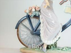 Rare Lladro Figurine Biking In The Country 5272 Free Uk Postage