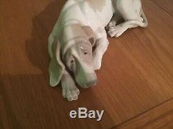 Rare, Lladro Large Dog. Pointer Dog Authentic. Perfect Con. Can Deliver