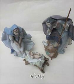Rare Lladro Nativity Set Mary 5747, Joseph 5746, Baby Jesus 5745
