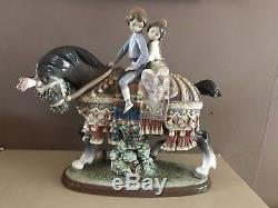 Rare Lladro Valencias Children On A Horse Mint