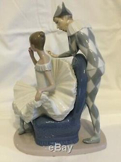 Rare Nao by Lladro Ballet Dancer and Harlequin A Dream Come True