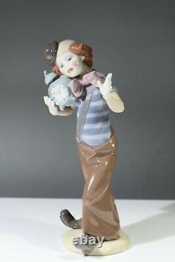 Rare Vintage Lladro Figurine CLOWN ALARM CLOCK Model 5056 AA