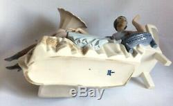 Rare Vintage Lladro Porcelain Figurine 5176 Flapper Art Deco Lady on Divan Sofa