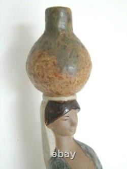 Rare retired large 46 cm tall Gres Lladro Water carrier figure 1971-74 backstamp