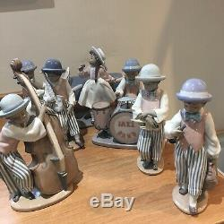 Retired Lladro Complete Jazz Band. 6 Figurines