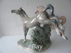 Retired Lladro Nao Porcelain Group Figurine Wild Stallions by Regino Torrijos