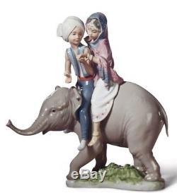 SALE Lladro Porcelain HINDU CHILDREN 010.05352 Worldwide Shipping