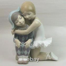 Scarce Lladro Porcelain Figurine Infantile Candor Harlequin & Ballerina #4963