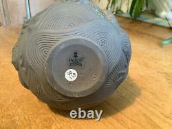 U K Rare Lladro Fine Porcelain Dragons Bud Vase, Dark