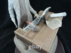 Very Rare Lladro Figurine Young Beethoven With Base 1815 Excellent & Signed