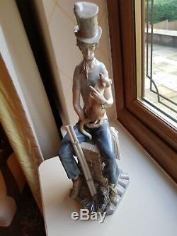 Very Rare Lladro Retired Figurine Sad Chimney Sweep No 1253 17 Tall With Repair