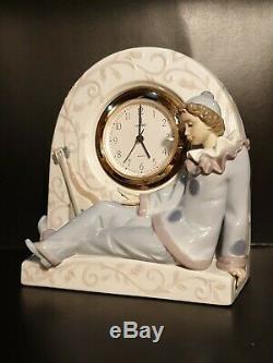 Vintage LLADRO Figurine Pierrot Clock 5778 Clown BOXED