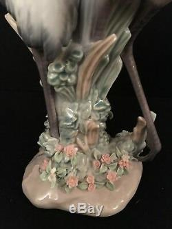 Vintage LLADRO Porcelain COURTING CRANES