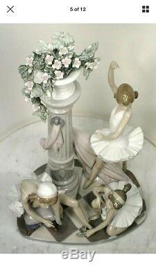 Vintage LLADRO ballet Trio Figurine. Three Ballerinas Salvador Debon 5235 RARE