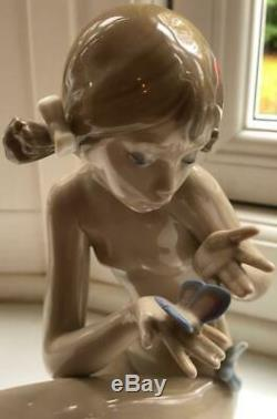 Vintage Lladro Figure Nude Girl Free as a Butterfly 1985-87 01001483