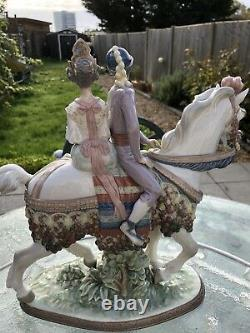Vintage RARE LLADRO # 927 Valencian couple on horse Signe At The Bottom Limited