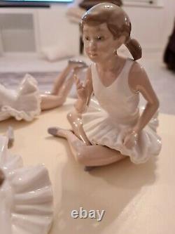 Vintage Rare Porcelain Nao by Lladro Ballerina Figures EXCELLENT COND Antique