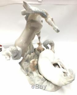 Vtg Large LLADRO TWO HORSES No. 4597 Spanish Porcelain Decorative Figure C60